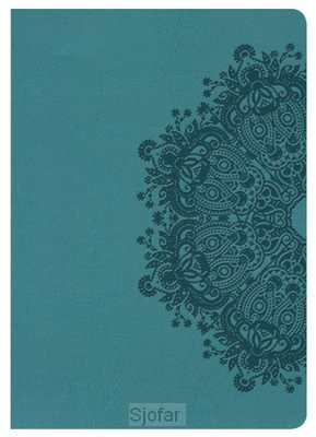 Compact bible teal imit. leather LP
