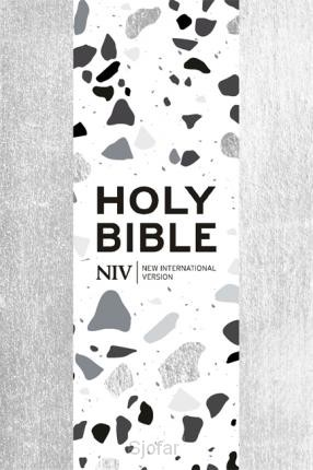 Pocket bible with zip silver soft-touch