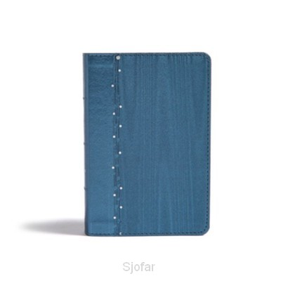 On-The-Go Bible, Teal Soft Leather blue